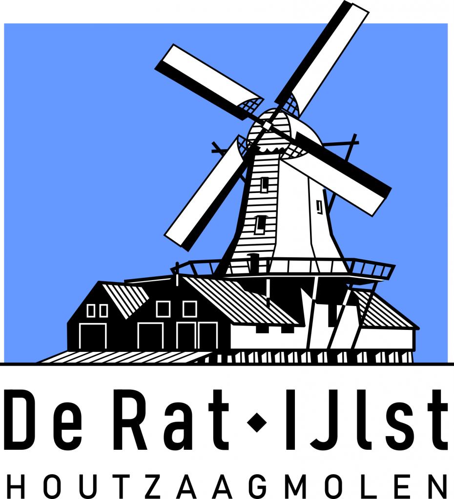 Logo Houtzaagmolen De Rat © Jeroen Deen / Deen Design